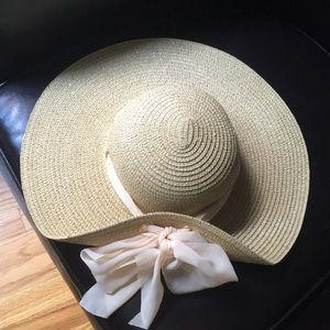 Accessories - Sun hat gold tone flecks&sheer changeable ribbon
